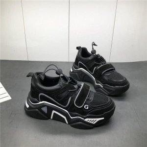 블랙 밴디 통굽 어글리슈즈 스탠딩 키높이 신발