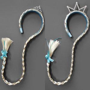 (쇼유키즈)  쇼유키즈  겨울왕국 엘사 왕관 가발 머리띠 (3 types)
