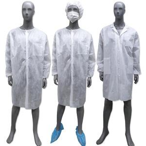 일회용 위생가운 방문자 실험 세트 가운 위생복 방문