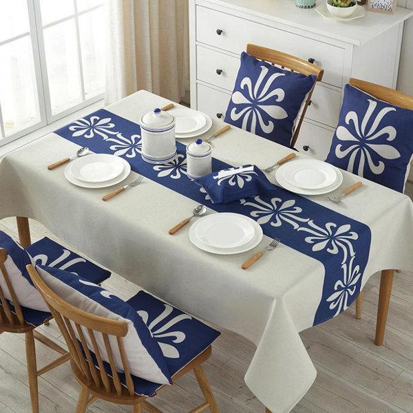 코코아이티 아시아풍 린넨 식탁보 테이블보 140x180cm