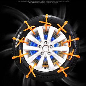 케이블타이 스노우 체인 10개세트 차량용품 비상체인