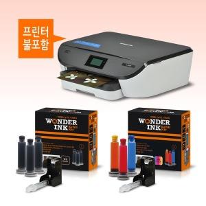 원더리필킷 삼성SL-J2160 M260검정+컬러세트 리필잉크