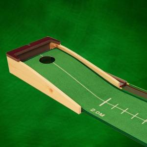 퍼팅연습기 PL2 원목 퍼팅매트 골프 무소음 퍼터연습