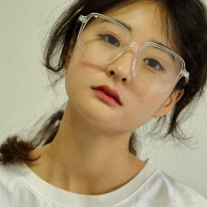 여성 남성 사각 오버사이즈 투명 검정 뿔테 안경테