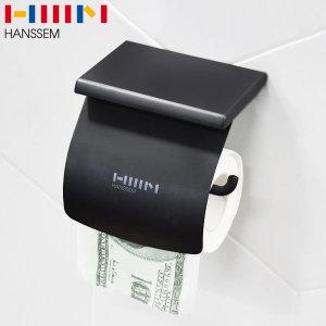 한샘 선반형 휴지걸이 1000-1 무광블랙 국산 욕실