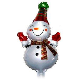눈사람(소)크리스마스 은박풍선-파티 x-mas 트리 장식