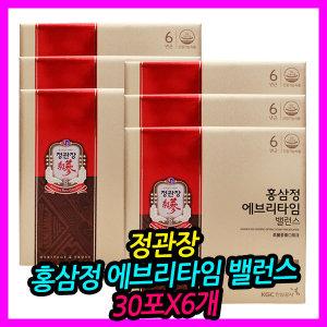 정관장 홍삼정 에브리타임 밸런스 30포X6개