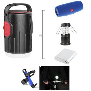 파워뱅크 겸용 블루투스스피커 LED 랜턴 자전거라이트