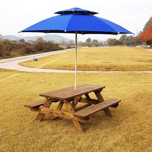 (6~8인 구입시 평벤치) 야외 방부목 테이블 벤치 의자