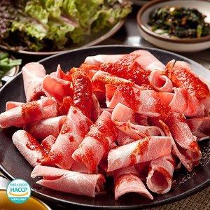 (초원식품)  초원식품  제주 흑돼지 뒷다리살 불고기용 500g (냉동)