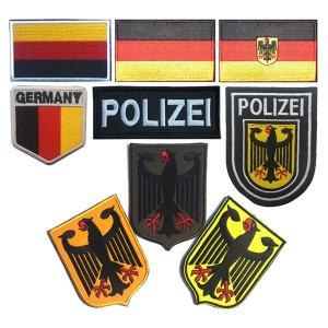 독일 국기 패치 벨크로 POLIZEI 독수리 germany 와펜