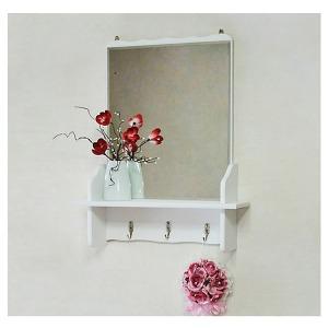 쓰임새가 좋은 벽걸이 공간 거울선반 미니화장대