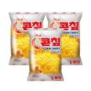 크라운 콘칩 과자 (대) 148g  3개