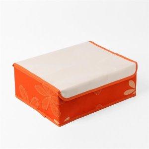 싱글라이프 리빙박스 속옷정리함(오렌지) (24칸)