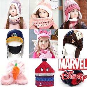 아동 유아 털 목도리 머플러 귀마개 모자 겨울 방한