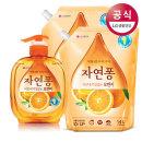 자연퐁 주방세제 오렌지 500g+리필 1.4L 2개