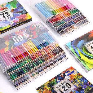 Brutfuner 유성 색연필 120색 세트 컬러링북 4종 증정