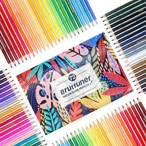 Brutfuner 수채 색연필 180색 세트 컬러링북 4종 증정