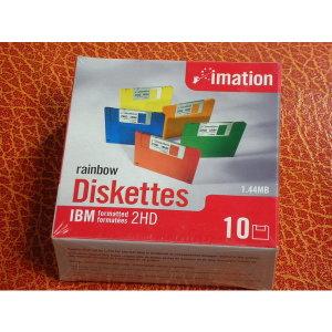 imatiom rainbow diskettes 1.44mb공디스켓10장