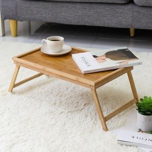 접는 친환경 대나무 베드트레이 쟁반 1인용상 테이블