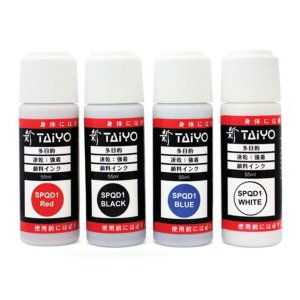 TAIYO) PUSH형 불멸잉크 (청색)-스탬프 잉크 사업자명