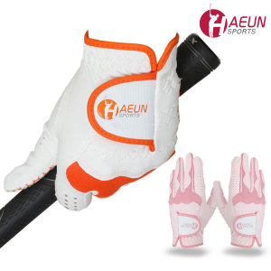 HAEUN 여성용 합피 골프장갑 미끄럼방지 실리콘 정품