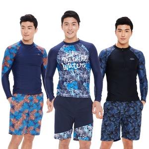 남자 수영복 래쉬가드 팬츠 남성 비치웨어 상하의세트