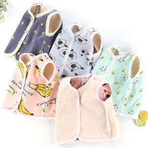 아동 포그니 수면 기모조끼/보온조끼/수면조끼/슬립색
