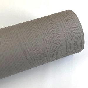 그레이 페인티드우드 단색 무늬목 시트지 HPW-705