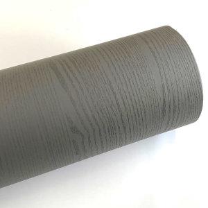 다크그레이 페인티드우드 단색 무늬목 시트지 HPW-706