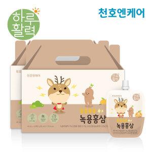 천호엔케어  튼튼쑥쑥 어린이 녹용홍삼 40ml 30팩 2박스