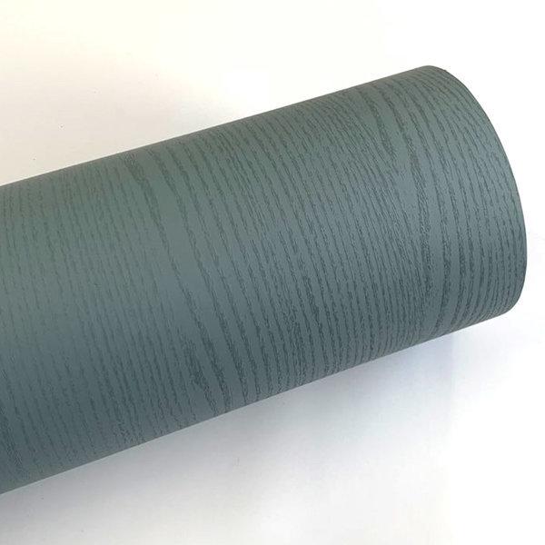 러시안블루 페인티드우드 단색 무늬목 시트지 HPW-708