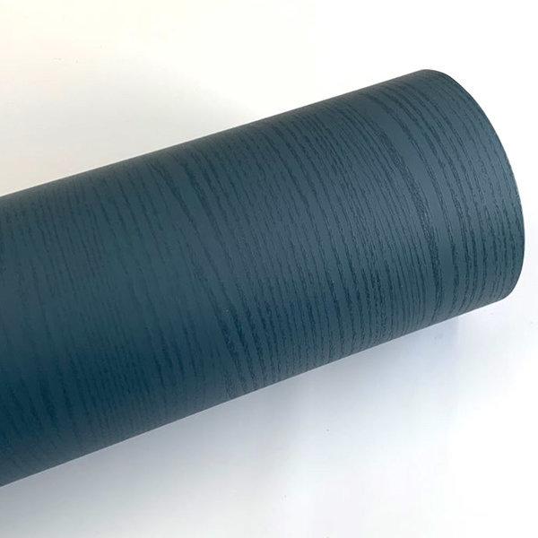 다크블루 페인티드우드 단색 무늬목 시트지 HPW-709