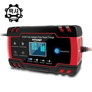 FOXSUR 퍽셔 자동차배터리 충전기 한글화 RED2 12+24V