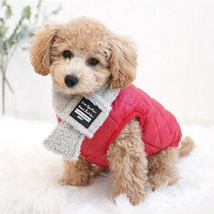 이모션 경량 패딩 레드 S 강아지패딩/강아지겨울옷