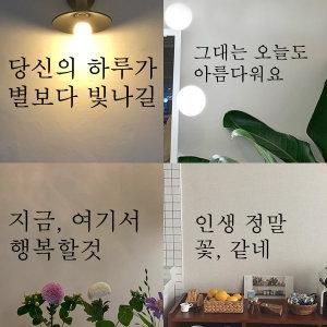 감성 글귀 레터링 스티커 인테리어 현관/벽/창문/매장