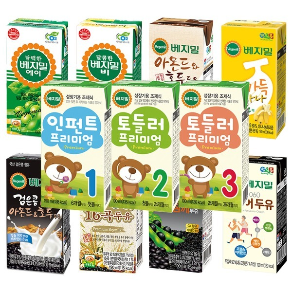 정식품/프리미엄/토들러(16팩)X4박스/아기두유/베지밀