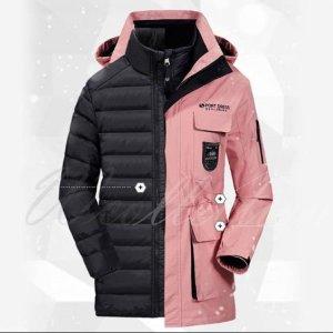 스키복 커플 스키자켓 패딩 2피스 탈부착 다운 자켓