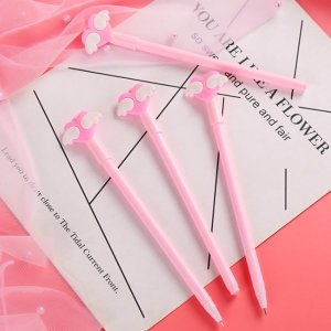 핑크 날개하트 볼펜 학생 귀여운 캐릭터볼펜 선물 추전