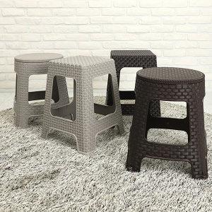 리빙패밀리 야외용의자 플라스틱 의자 라탄의자
