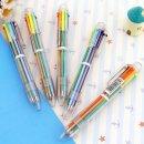 6색볼펜 원터치 5개입 색상전환 학생/사무 컬러 볼펜