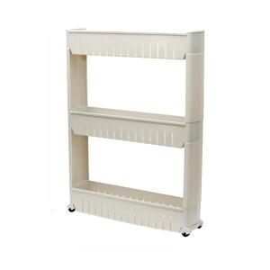 일반형 3단 틈새수납장 다용도 주방 냉장고 공간 바퀴