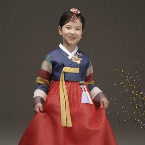 더예한복  QT312-꽃한비 여아한복 아동한복