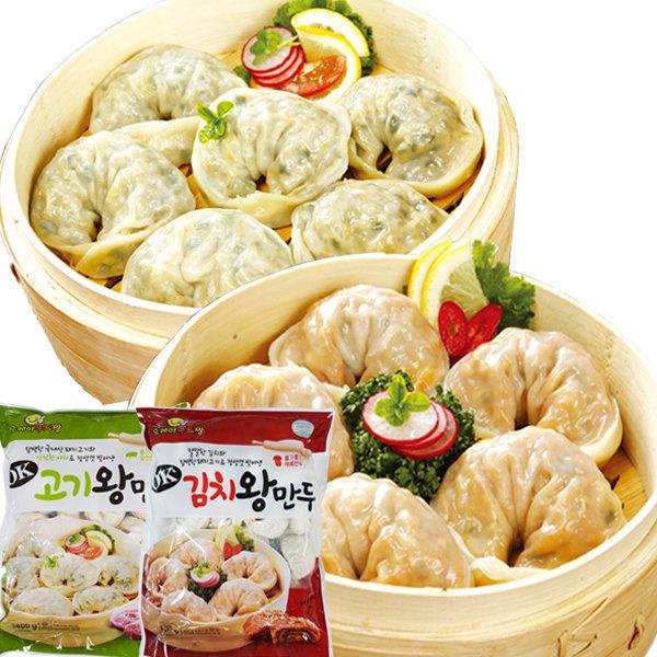 고기왕만두1.4kg+김치왕만두1.4kg 2봉/신년특가세일