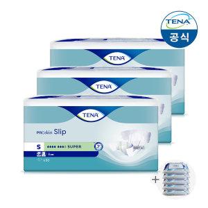 테나 성인용기저귀 수퍼 소중형 30매 3팩 +휴대용물티슈5팩