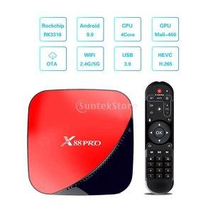 X88 PRO 셋톱박스TV박스 안드로이드9.0 4+32GB 빨강
