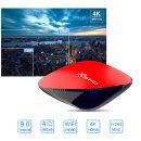 X88 PRO 셋톱박스TV박스 안드로이드9.0 4+64GB 빨강