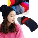 심플 비니 여성 남성 공용 겨울 니트 털 방한 모자
