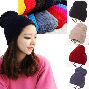 골지 비니 여성 남성 공용 털 방한 겨울 니트 모자