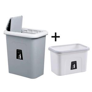 주방 걸이형 음식물 쓰레기통 1+1 싱크대 휴지통